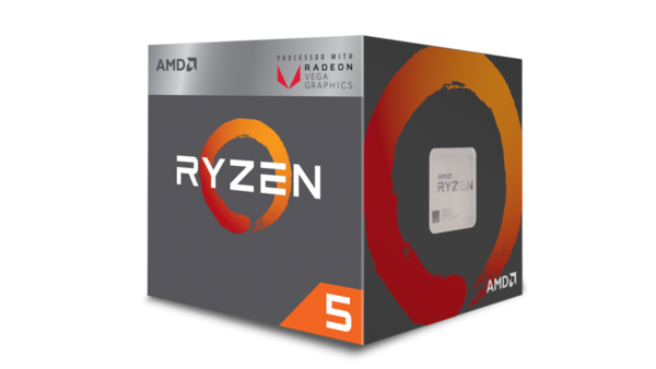 AMD RYZEN 5 3400G 4-Core 3.7/4.2 GHz, 8 Threads 6MB L2 Cache, Radeon Vega 11, 65W, Socket AM4
